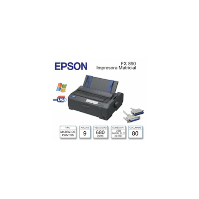 EPSON LX-350 C/9 AGUJAS VELOCIDAD HASTA 390 CPS